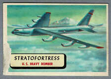 1957 Topps Planes Red Back #7, Stratofortress, US Heavy Bomber
