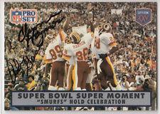 "Howard Cosell fired ""Monkey Run"" statement / Alvin Garrett Redskins SIGNED CARD"
