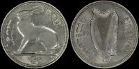 IRELAND 3 PENCE 1928 (CHOICE ABOUT UNC) *FIRST YEAR TYPE COIN*