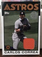 CARLOS CORREA 2021 Topps Series 1 1986 Relic Patch Card Houston Astros
