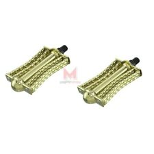 """New Gold Double Butterfly Square Twist Bicycle Pedals 1/2"""" Low Rider Show Bike"""