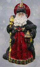 Christopher Radko *New* Ebony Clad Mr. Claus 1019803 Santa Christmas Ornament