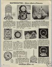 1955 PAPER AD Mastercrafters Clocks Ship Mother Goose Haddon Golden Vision Hour