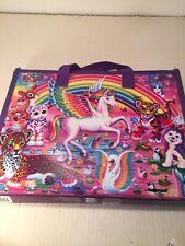 Lisa Frank Unicorn Trifold Portfolio School Folder 10x13 BONUS Crayons