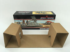 replacement vintage star wars power of the force Tatooine Skiff  box + inserts