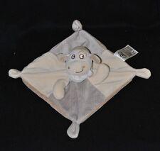 Peluche doudou mouton carré plat MOTS D'ENFANTS LECLERC beige gris bandana NEUF