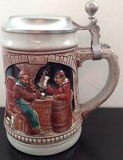 Vintage Gerz Tankard W. Germany Stoneware Stein Beer Ale Medieval Tavern Pewter