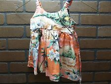KY's made in Hawaiian Spaghetti Strap Pink traditional floral design sz 6M