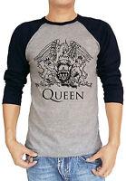 Queen Band Music Freddie Baseball Tee Raglan 3/4 Sleeve T Shirt S M L XL XXL