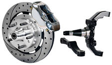 """WILWOOD DISC BRAKE KIT,FRONT,W/WWE 2"""" DROP PROSPINDLES,12"""" DRILLED,POLISHED CAL."""