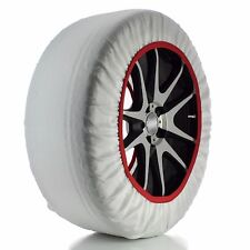 Husky Textile System Car Winter Wheel Tyre Ice, Frost & Snow Chain Socks - M RED