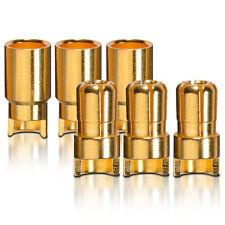 contactos chapados en oro conector RESISTENTE Enchufe 6.0mm sin escobillas 3