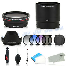 Wide Angle Macro Lens UV CPL Color Filters fr Nikon Coolpix P600 P610 P610S B700