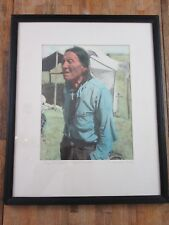 Vintage Long Tom Bull w/Cigar in Mouth (Cheyenne Indian) 1947 Framed Picture