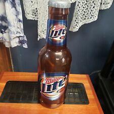 14in Large Plastic Miller Lite Beer Bottle Bank