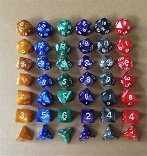 Pearl Multi sided dice set of 7 D4 D6 D8 D10 D12 D20 Dungeons D&D RPG Warhamme E