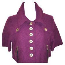 Millard Fillmore Wool Blend Purple Cropped Jacket Large