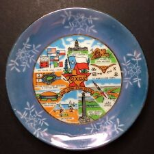 Vintage Texas The Lone Star State Decorative Collectible Souvenir Plate 3 3/4""