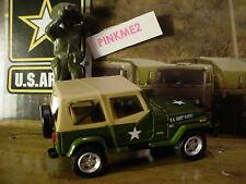 US ARMY Greenlight 1995 JEEP WRANGLER YJ✰Green/tan✰Loose✰2016 Motor World