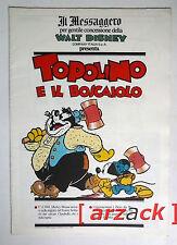 TOPOLINO supplemento a IL MESSAGGERO Topolino e il boscaiolo 30/12/89