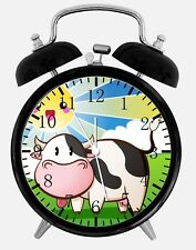 """Moo Cow Alarm Desk Clock 3.75"""" Home or Office Decor Y56 Nice For Gift"""