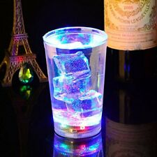 4 Flashing Water Activated LED Glass Glowing Liquid Tumbler Light Up Party Cup