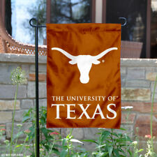 Texas UT Longhorns Wordmark Garden Flag and Yard Banner