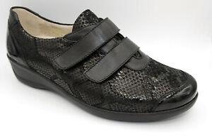 Goldkrone Hallux Klettslipper schwarz Damen Schuhe Weite M Neu 868/7