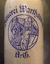 Originaler Bierkrug Brauerei Warthausen mit Motiv 16/20L
