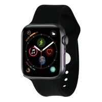 Apple Watch Series 4 (44mm) A1978 GPS - Space Gray Aluminum/Black Sport Band