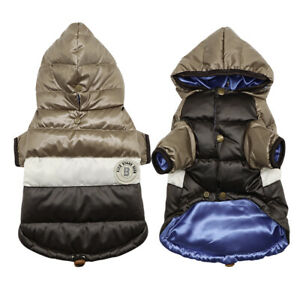 Waterproof Warm Winter Dog Coat Clothes Hoodie Jacket Reflective Padded Apparel