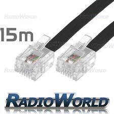15M Metre RJ11 TO RJ-11 Cable Broadband Modem / Internet Lead Long DSL Black