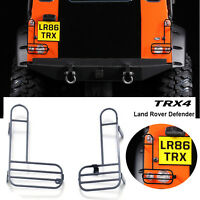 1Pair Metal Rear Tail Light Lamp Cover for DJ TRAXXAS TRX-4 Land Rover Defender