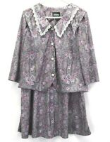 Whirlaway Frock Women's Size 12 Made in USA Blouse & Skirt 2 Piece Outfit Set