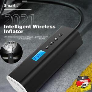 USB Wireless Akku Luftpumpe 12V 8000mAh Auto Reifen Druckluft Fahrrad Kompressor