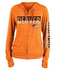"Denver Broncos Women's New Era NFL ""Fumble"" Space Dye Hooded Sweatshirt"