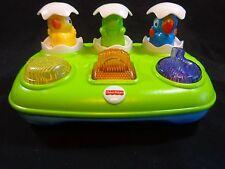 Fisher Price POP UP EGGS Musical Toy Duck Bird Turtle 2013 Y8650 3-36 Months