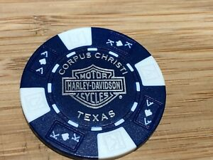 Harley Davidson Poker Chip Corpus Christi Texas