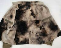 gimo's genuine shearling suede leather zip bomber jacket sz 52 42 large