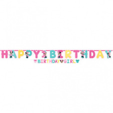 Disney Minnie Mouse Fun to be One 1st Birthday Jumbo Letter Banner Kit