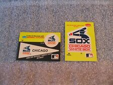 CHICAGO WHITE SOX VINTAGE 1982 TEAM LOGO STICKER AND FACTOID CARD