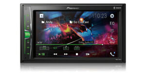 Pioneer DMH-220EX Double 2 DIN MP3/WMA Digital Media Player 6.2 LCD Bluetooth