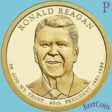 2016-P RONALD REAGAN #40 PRESIDENTIAL GOLDEN DOLLAR UNCIRCULATED FROM MINT ROLL