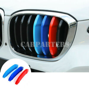 For BMW X3 X4 G01 G02 ABS Front Grill Grille Insert Trim Cover 3pcs 2018-2019