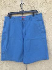 IZOD  SALTWATER SHORTS FLAT FRONT BLUE SIZE 36 MENS Great Condition