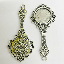 2pcs antiqued silvercolor 18mm round shaped cabochon settings/pendant h2532