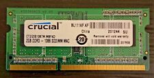 Crucial 2GB DDR3 PC3-8500S Sodimm Memory RAM - CT2G3S1067M.M8FKD
