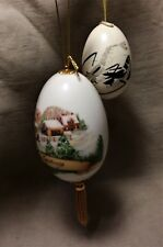 Christmas Holiday Decorations_Hand Painted Eggs_Two