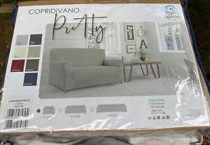 Copridivano Pretty Sofa Covers Protector 1 Seat  Posto Tortora Grey Unused