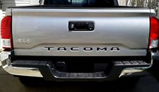 2016-2018 Toyota Tacoma Piano Black Tailgate Letters Inserts Inserts 3D